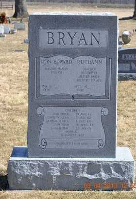 BRYAN, DON EDWARD - Branch County, Michigan | DON EDWARD BRYAN - Michigan Gravestone Photos