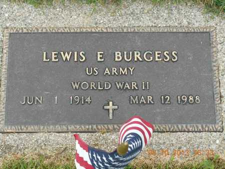 BURGESS, LEWIS E. - Branch County, Michigan | LEWIS E. BURGESS - Michigan Gravestone Photos