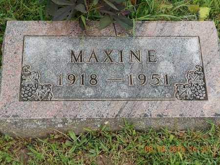 BURGESS, MAXINE - Branch County, Michigan | MAXINE BURGESS - Michigan Gravestone Photos