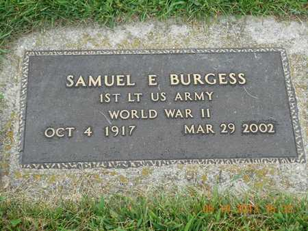 BURGESS, SAMUEL E. - Branch County, Michigan | SAMUEL E. BURGESS - Michigan Gravestone Photos