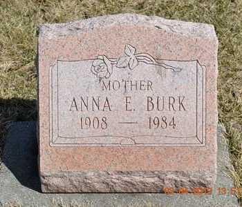 BURK, ANNA E. - Branch County, Michigan | ANNA E. BURK - Michigan Gravestone Photos