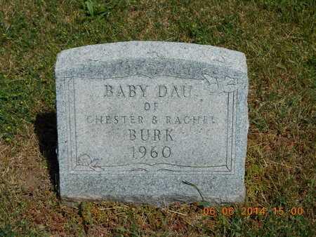 BURK, BABY DAUGHTER - Branch County, Michigan   BABY DAUGHTER BURK - Michigan Gravestone Photos