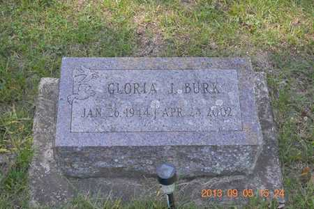 BURK, GLORIA J. - Branch County, Michigan   GLORIA J. BURK - Michigan Gravestone Photos