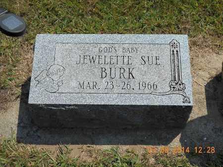 BURK, JEWELETTE SUE - Branch County, Michigan | JEWELETTE SUE BURK - Michigan Gravestone Photos