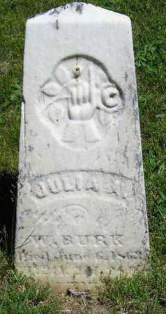 BURK, JULIA A. - Branch County, Michigan | JULIA A. BURK - Michigan Gravestone Photos