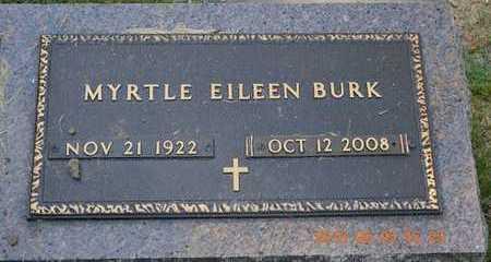 BURK, MYRTLE EILEEN - Branch County, Michigan   MYRTLE EILEEN BURK - Michigan Gravestone Photos