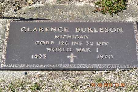 BURLESON, CLARENCE - Branch County, Michigan | CLARENCE BURLESON - Michigan Gravestone Photos
