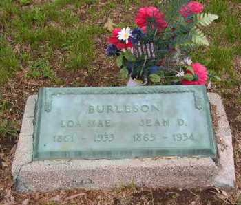 BURLESON, JEAN D. - Branch County, Michigan | JEAN D. BURLESON - Michigan Gravestone Photos
