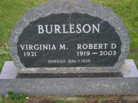 BURLESON, ROBERT D. - Branch County, Michigan | ROBERT D. BURLESON - Michigan Gravestone Photos
