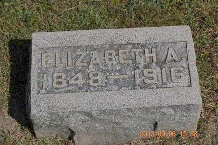 BUTLER, ELIZABETH A. - Branch County, Michigan | ELIZABETH A. BUTLER - Michigan Gravestone Photos