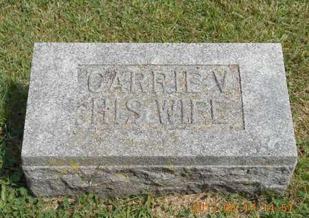 CALHOON, CARRIE V. - Branch County, Michigan   CARRIE V. CALHOON - Michigan Gravestone Photos