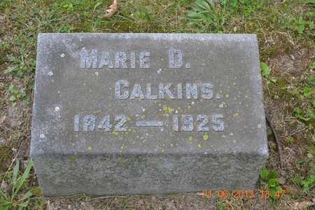 CALKINS, MARIE D. - Branch County, Michigan | MARIE D. CALKINS - Michigan Gravestone Photos