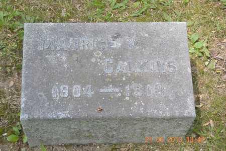 CALKINS, MAURICE V. - Branch County, Michigan | MAURICE V. CALKINS - Michigan Gravestone Photos