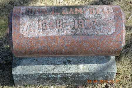 CAMPBELL, JOHN E. - Branch County, Michigan | JOHN E. CAMPBELL - Michigan Gravestone Photos
