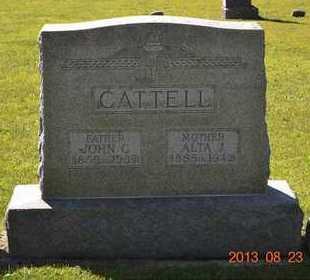 CATTELL, ALTA J. - Branch County, Michigan   ALTA J. CATTELL - Michigan Gravestone Photos