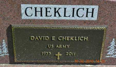 CHEKLICH, DAVID E. - Branch County, Michigan | DAVID E. CHEKLICH - Michigan Gravestone Photos