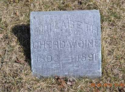 CHERDAVOINE, ELIZABETH - Branch County, Michigan   ELIZABETH CHERDAVOINE - Michigan Gravestone Photos