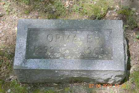 CHINNOCK, ORMA E. - Branch County, Michigan | ORMA E. CHINNOCK - Michigan Gravestone Photos