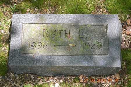 CHINNOCK, RUTH E. - Branch County, Michigan | RUTH E. CHINNOCK - Michigan Gravestone Photos