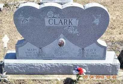 CLARK, ZONALD F. - Branch County, Michigan | ZONALD F. CLARK - Michigan Gravestone Photos
