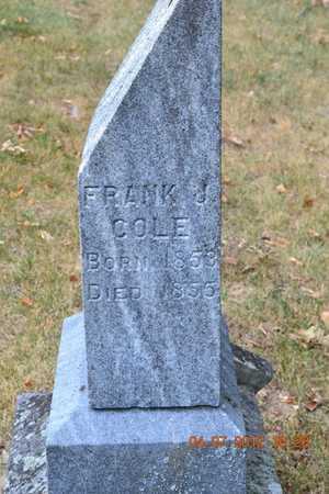COLE, FRANK J. - Branch County, Michigan | FRANK J. COLE - Michigan Gravestone Photos