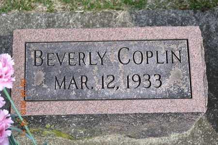 COPLIN, BEVERLY - Branch County, Michigan | BEVERLY COPLIN - Michigan Gravestone Photos