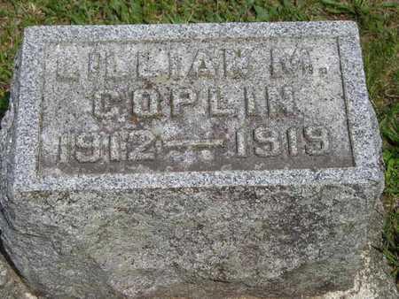 COPLIN, LILLIAN M. - Branch County, Michigan   LILLIAN M. COPLIN - Michigan Gravestone Photos