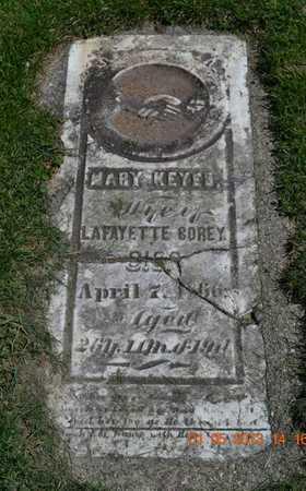COREY, MARY - Branch County, Michigan   MARY COREY - Michigan Gravestone Photos