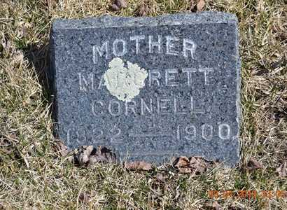 CORNELL, MARGRETT - Branch County, Michigan | MARGRETT CORNELL - Michigan Gravestone Photos