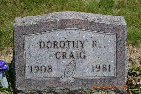 CRAIG, DOROTHY R. - Branch County, Michigan   DOROTHY R. CRAIG - Michigan Gravestone Photos