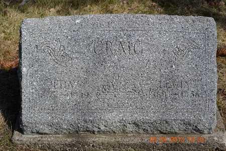 CRAIG, EDA - Branch County, Michigan | EDA CRAIG - Michigan Gravestone Photos