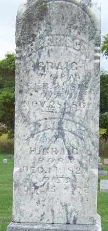 CRAIG, HARRISON - Branch County, Michigan | HARRISON CRAIG - Michigan Gravestone Photos