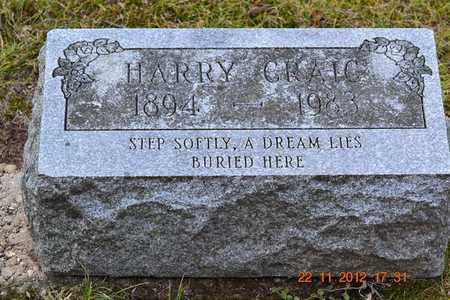 CRAIG, HARRY - Branch County, Michigan   HARRY CRAIG - Michigan Gravestone Photos