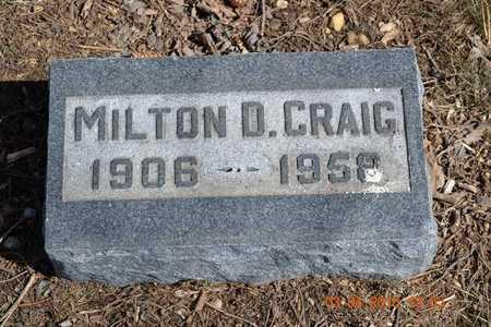 CRAIG, MILTON D. - Branch County, Michigan | MILTON D. CRAIG - Michigan Gravestone Photos