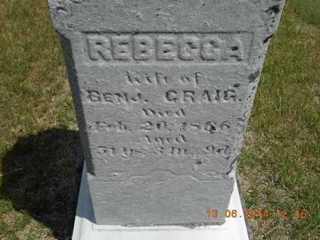 CRAIG, REBECCA - Branch County, Michigan | REBECCA CRAIG - Michigan Gravestone Photos