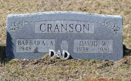 CRANSON, BARBARA A. - Branch County, Michigan | BARBARA A. CRANSON - Michigan Gravestone Photos