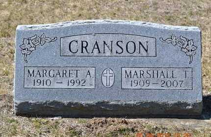 CRANSON, MARGARET A. - Branch County, Michigan | MARGARET A. CRANSON - Michigan Gravestone Photos