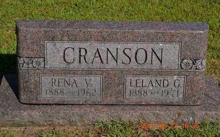 CRANSON, LELAND G. - Branch County, Michigan   LELAND G. CRANSON - Michigan Gravestone Photos