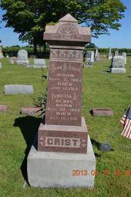 CRIST, DOCIA A. - Branch County, Michigan   DOCIA A. CRIST - Michigan Gravestone Photos