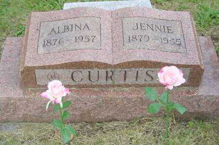 CURTIS, JENNIE - Branch County, Michigan | JENNIE CURTIS - Michigan Gravestone Photos