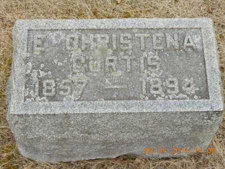 CURTIS, E. CHRISTENA - Branch County, Michigan   E. CHRISTENA CURTIS - Michigan Gravestone Photos