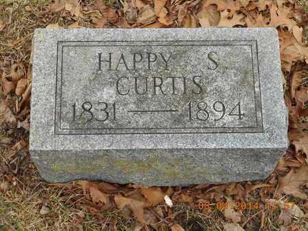 CURTIS, HAPPY S. - Branch County, Michigan   HAPPY S. CURTIS - Michigan Gravestone Photos