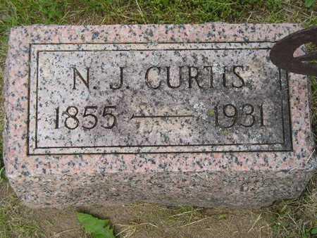 CURTIS, N.J. - Branch County, Michigan | N.J. CURTIS - Michigan Gravestone Photos