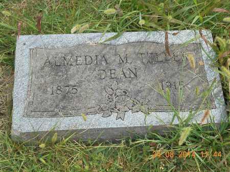 DEAN, ALMEDIA M. - Branch County, Michigan   ALMEDIA M. DEAN - Michigan Gravestone Photos