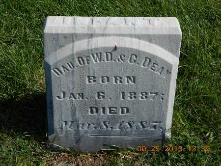 DEAN, INFANT DAUGHTER - Branch County, Michigan   INFANT DAUGHTER DEAN - Michigan Gravestone Photos