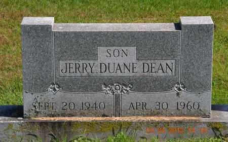 DEAN, JERRY DUANE - Branch County, Michigan | JERRY DUANE DEAN - Michigan Gravestone Photos