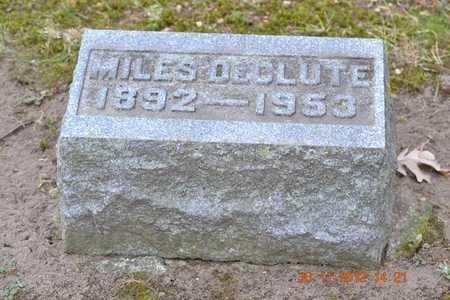 DECLUTE, MILES - Branch County, Michigan   MILES DECLUTE - Michigan Gravestone Photos