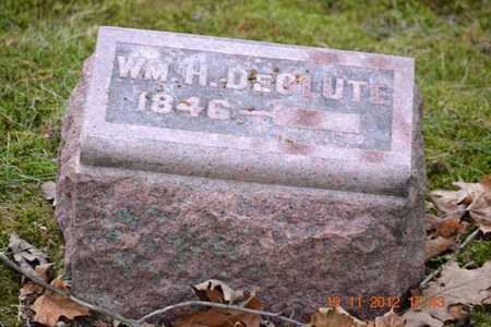 DECLUTE, WILLIAM H. - Branch County, Michigan | WILLIAM H. DECLUTE - Michigan Gravestone Photos