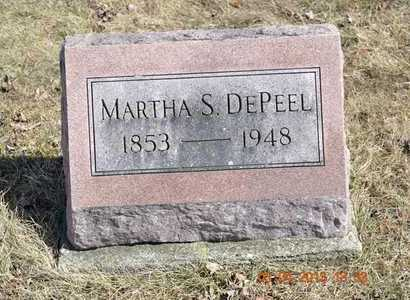 DEPEEL, MARTHA S. - Branch County, Michigan | MARTHA S. DEPEEL - Michigan Gravestone Photos