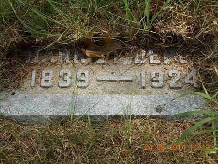DEPUE, HARRIET - Branch County, Michigan   HARRIET DEPUE - Michigan Gravestone Photos